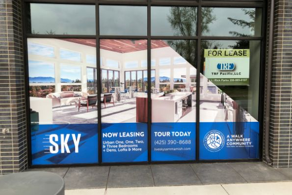 Custom made storefront windows wraps