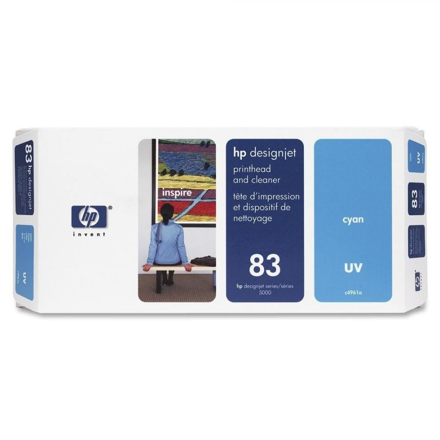 HP 83 UV Cyan Printhead & Cleaner - C4961A