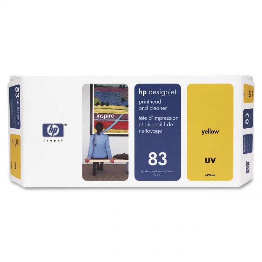 HP 83 UV Yellow Printhead & Cleaner - C4963A