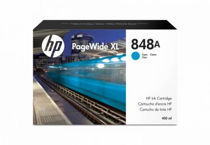 HP 848A 400-ml Cyan PageWide XL Ink Cartridge - F9J83A