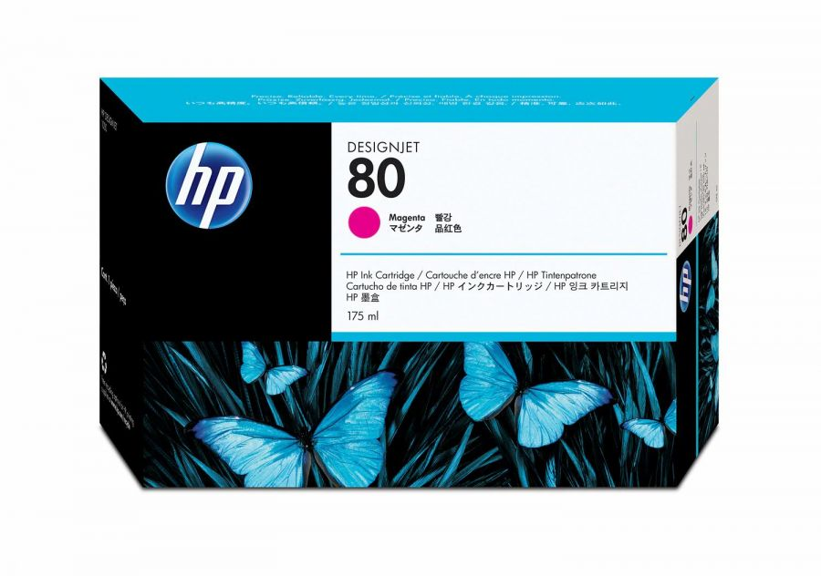 HP 80 Magenta Ink Cartridge (175 ml) - C4874A