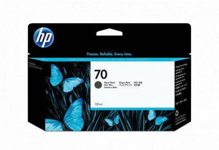 HP 70 130-ml Matte Black DesignJet Ink Cartridge - C9448A