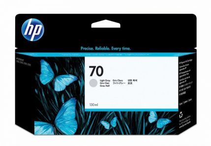 HP 70 130-ml Light Gray DesignJet Ink Cartridge - C9451A