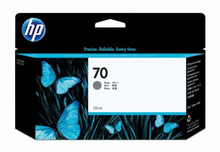 HP 70 130-ml Gray DesignJet Ink Cartridge - C9450A