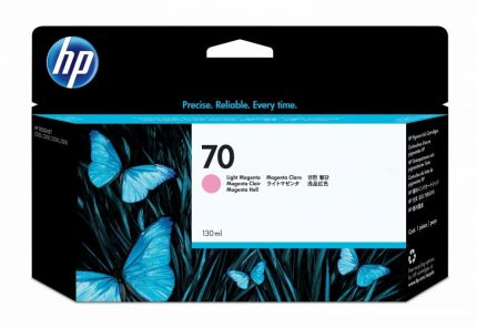HP 70 130-ml Light Magenta DesignJet Ink Cartridge - C9455A