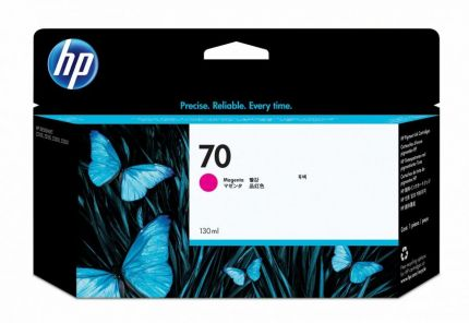 HP 70 130-ml Magenta DesignJet Ink Cartridge - C9453A