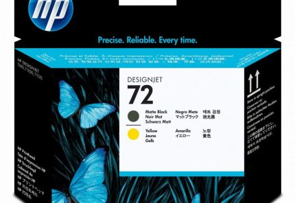HP 72 Matte Black and Yellow Printhead - C9384A