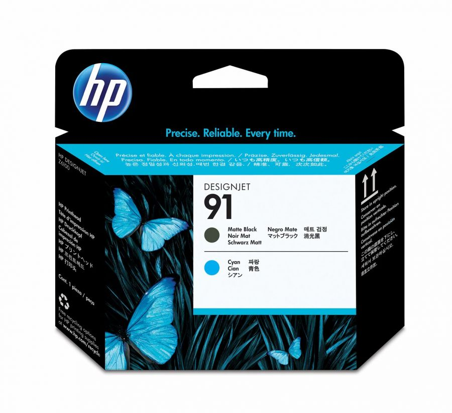HP 91 Matte Black/Cyan Printhead - C9460A