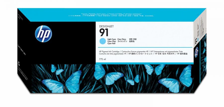 HP 91 Light Cyan Ink Cartridge - C9470A