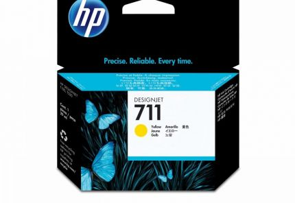 HP 711 Yellow Ink Cartridge - CZ132A