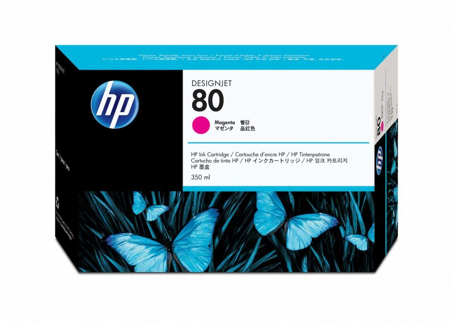 HP 80 Magenta Ink Cartridge (350 ml) - C4847A