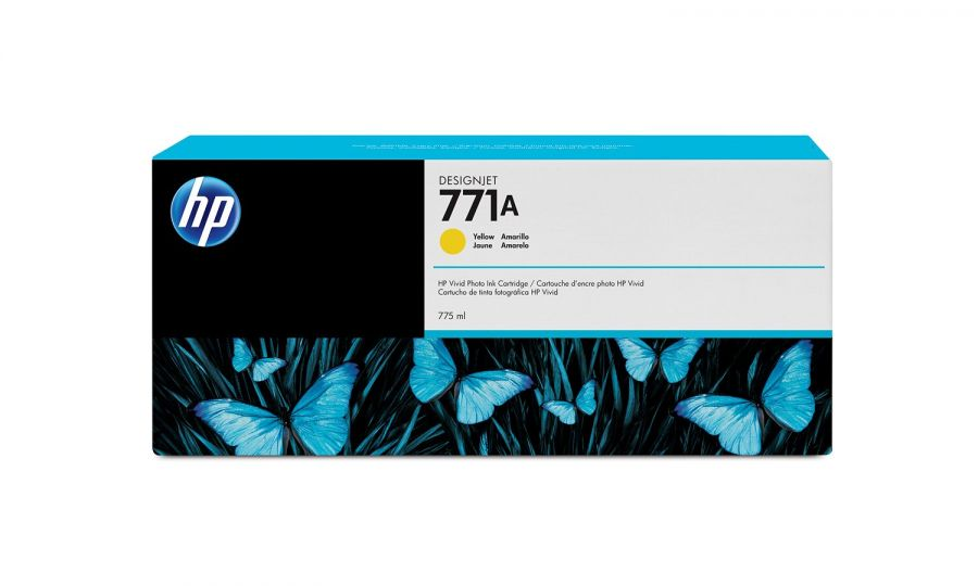 HP 771A 775-ml Yellow DesignJet Ink Cartridge - B6Y18A