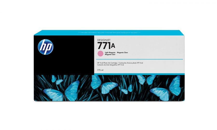 HP 771A 775-ml Light Magenta DesignJet Ink Cartridge - B6Y19A