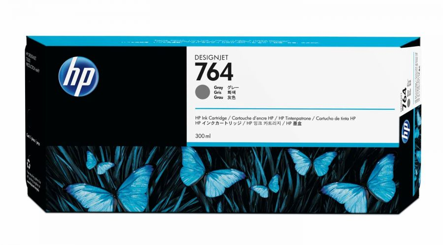 HP A 764 300-ml Gray Designjet Ink Cartridge - C1Q18A
