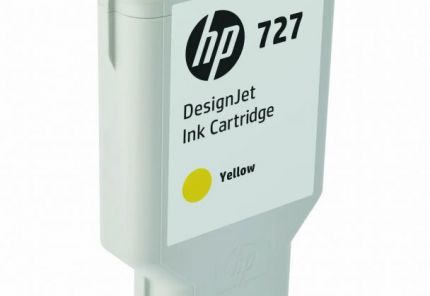 HP 727 300-ml Yellow DesignJet Ink Cartridge - F9J78A