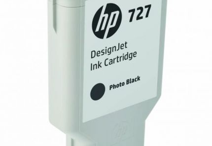 HP 727 300-ml Photo Black DesignJet Ink Cartridge - F9J79A