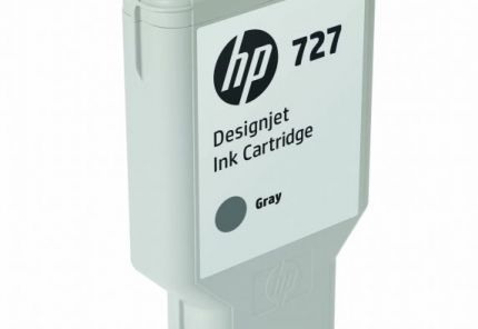 HP 727 300-ml Gray DesignJet Ink Cartridge - F9J80A