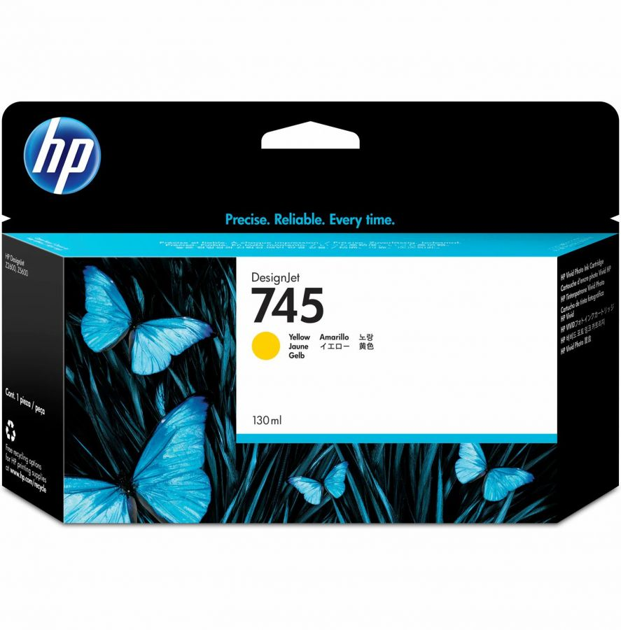 HP 745 Yellow Ink Cartridge - F9J96A