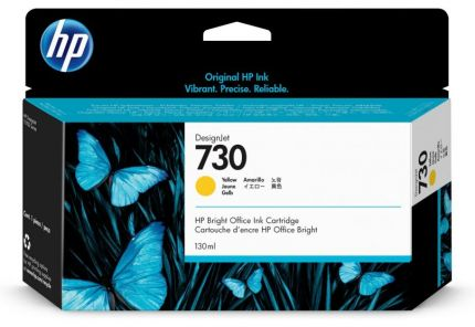 HP 730 130-ml Yellow DesignJet Ink Cartridge - P2V64A
