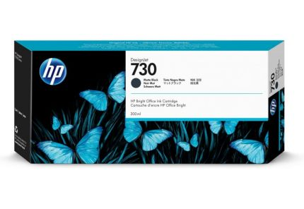 HP 730 300-ml Matte Black DesignJet Ink Cartridge - P2V71A
