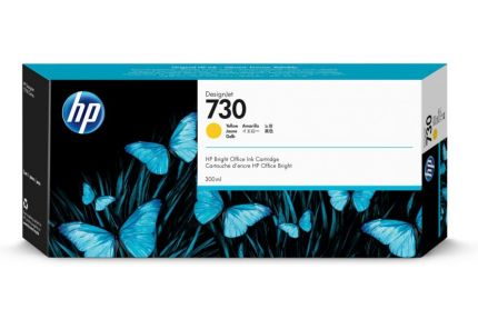 HP 730 300-ml Yellow DesignJet Ink Cartridge - P2V70A