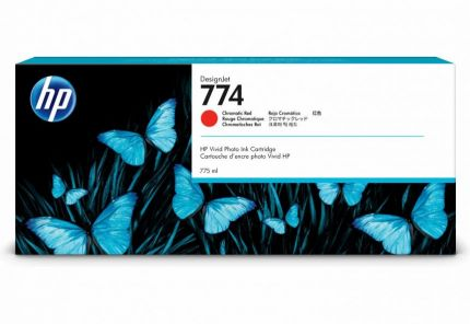 HP 774 775-ml Chromatic Red DesignJet Ink Cartridge - P2W02A