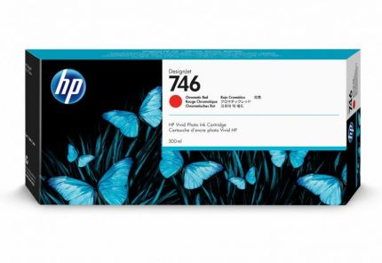 HP 746 300-ml Chromatic Red DesignJet Ink Cartridge - P2V81A