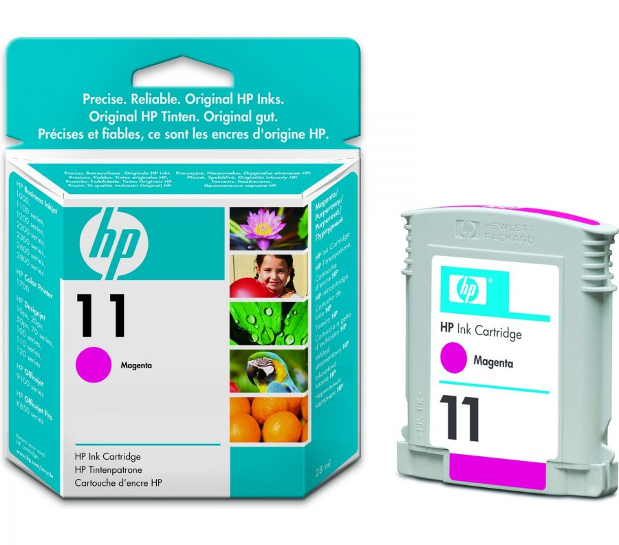 HP 11 Magenta Dye Ink Cartridge (28 ml) - C4837A