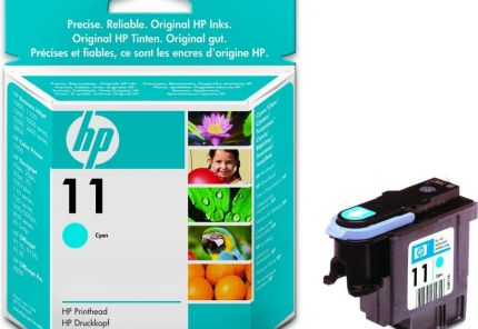 HP 11 Cyan Dye Ink Cartridge (28 ml) - C4836A
