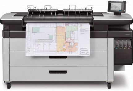 HP PageWide XL 3900 40-in Multifunction Printer with Top Stacker