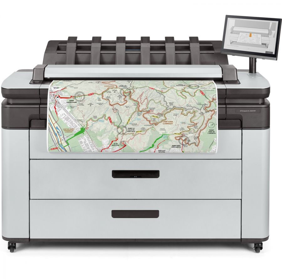 HP PageWide XL 3600 36-in Multifunction Printer with PostScript/PDF